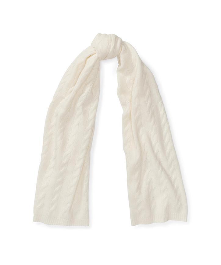 ケーブルカシミヤ スカーフ
