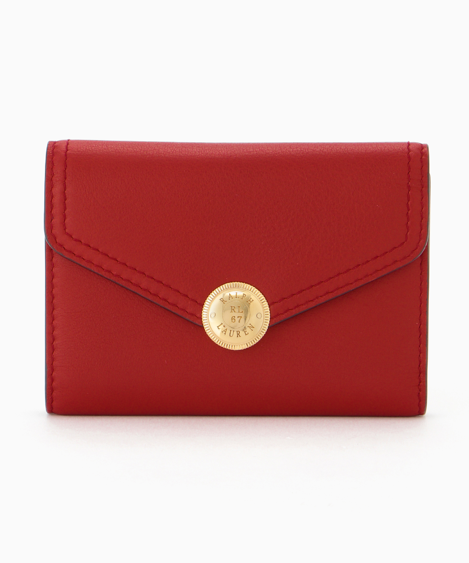 LOGO SNAP FRENCH PURSE_DEEP RED